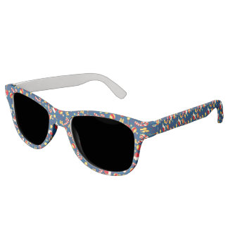 Blue - Santa's cap Sunglasses