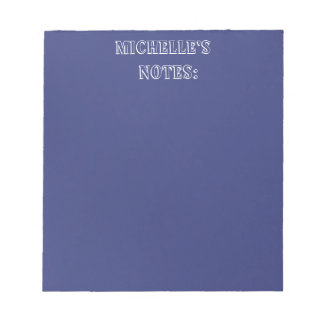 Blue Satin Look and Customize them yourself Notepads