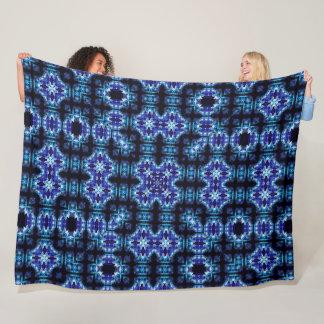 Blue Satin Unicorn Foulard Mandala Quilt Fleece Blanket