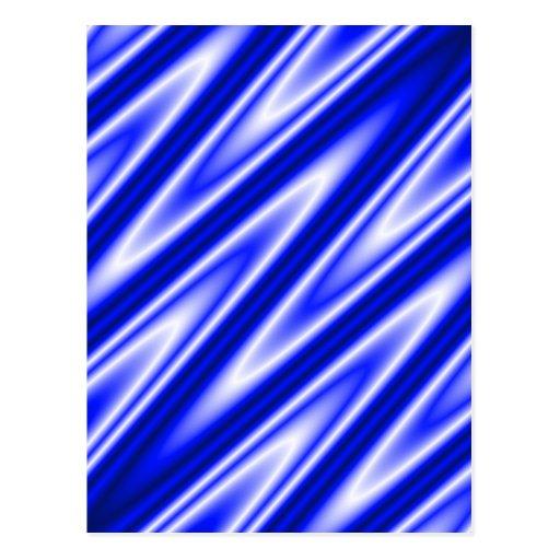 "Blue ""satiny"" waves background postcard"