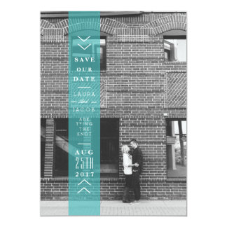 Blue Save The Date Banner | Overlay Photo Card