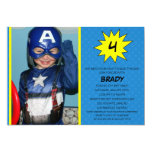 Blue Save the Day Superhero Photo Birthday Party