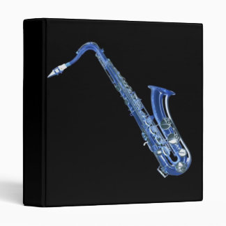 Blue Saxophone Binder