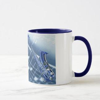 Blue Saxophone Mug