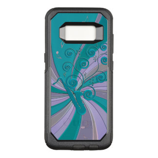 Blue Saxophone Swirl Music Notes Otterbox S8 Case
