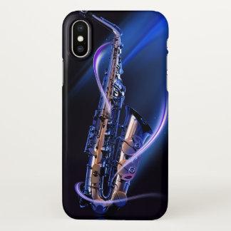Blue Saxophone Zazzle iPhone X Case