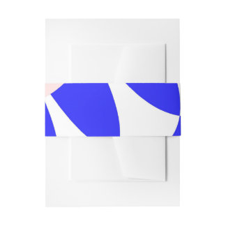 Blue Scales Invitation Belly Band