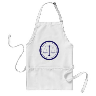Blue Scales of Justice Silhouette Standard Apron