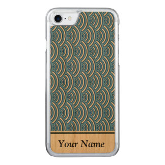 Blue scales pattern carved iPhone 8/7 case