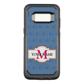Blue scales pattern OtterBox commuter samsung galaxy s8 case