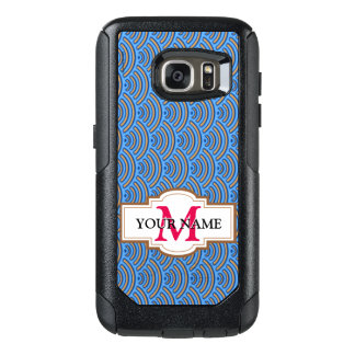 Blue scales pattern OtterBox samsung galaxy s7 case