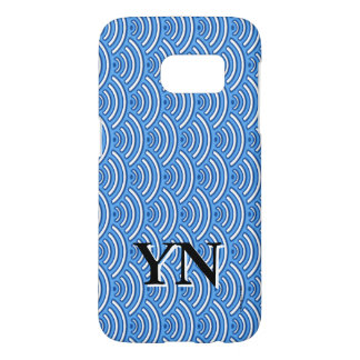 Blue scales pattern samsung galaxy s7 case