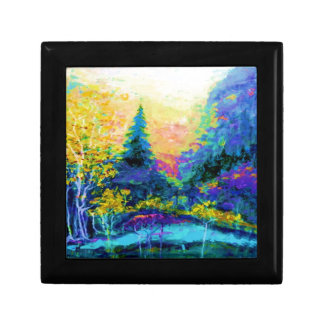 Blue Scenic Mountain Landscape Gifts Trinket Boxes