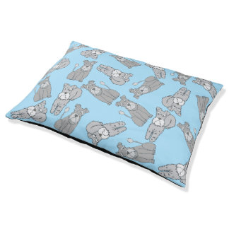 Blue Schnauzer Dog Bed