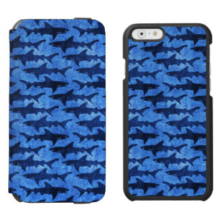 Blue School of Sharks Incipio Watson™ iPhone 6 Wallet Case