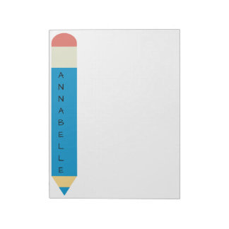 Blue School Pencil Notepad
