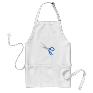 Blue scissors standard apron