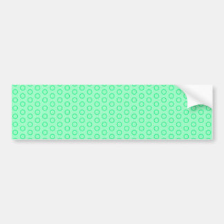 blue scores blue dots polka dabs samples small bumper sticker