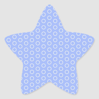 blue scores blue dots polka dabs samples small star sticker