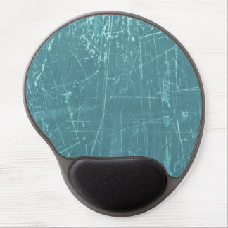 Blue Scratched Aged and Worn Texture Gel Mousepads