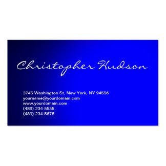 Blue Script Consultant Business Card