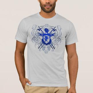 Blue Scroll Blue Knights Sword Crest Men's T-Shirt