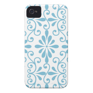 Blue Scroll Work Barely There iPhone 4 Case-Mate Case