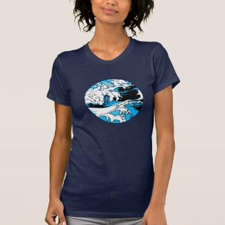 Blue scum, comic screen, tee-shirt woman round T-Shirt