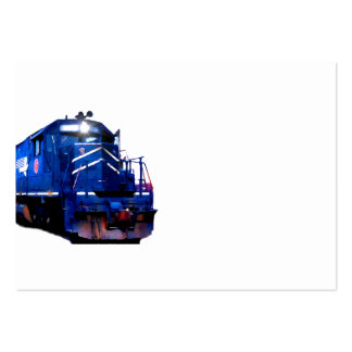 Blue SD-40 Locomotive Pack Of Chubby Business Cards