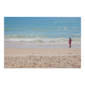 Blue Sea and Peaceful Waves Beach Photography Print