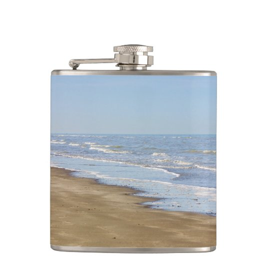 Blue Sea and Shore Photograph Flask