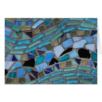 Blue Sea Glass Mosaic Card
