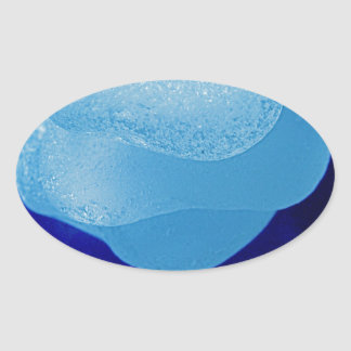Blue Sea Glass Reflections Stickers