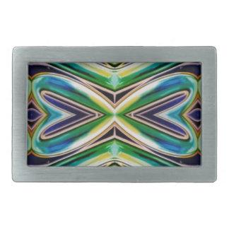Blue Sea Green Pop Soothing Pattern Belt Buckle