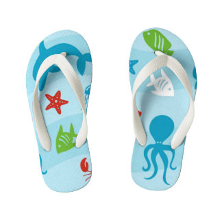 Blue Sea Kid's Flip Flops