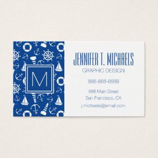 Blue Sea Pattern Business Card