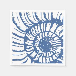 Blue Sea Snail Shell Disposable Napkins