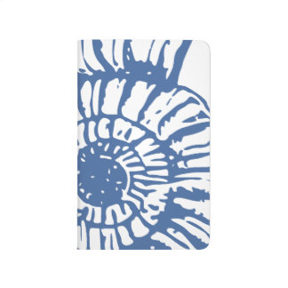 Blue Sea Snail Shell Journal