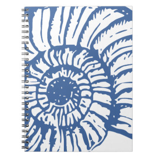 Blue Sea Snail Shell Notebooks