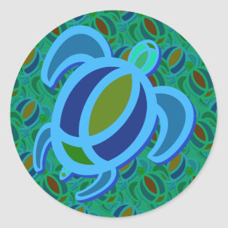 Blue Sea Turtle Stickers