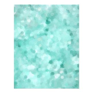Blue Seaglass Scrapbook Page