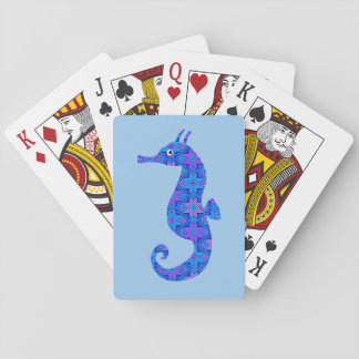 Blue seahorse blue playing cards