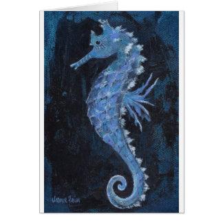 Blue Seahorse Card
