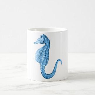 Blue seahorse coastal nautical ocean beach coffee mug