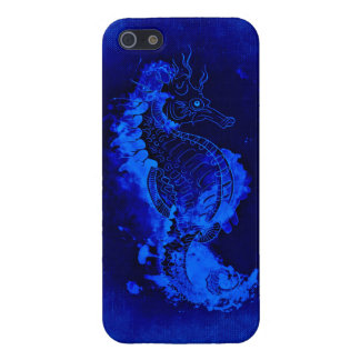 Blue Seahorse Painting Case For iPhone 5/5S