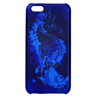 Blue Seahorse Painting Cover For iPhone 5C