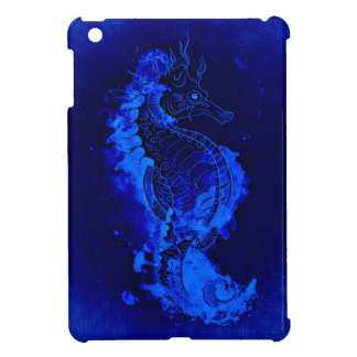 Blue Seahorse Painting Cover For The iPad Mini