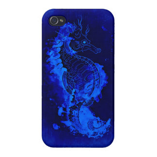 Blue Seahorse Painting iPhone 4 Covers