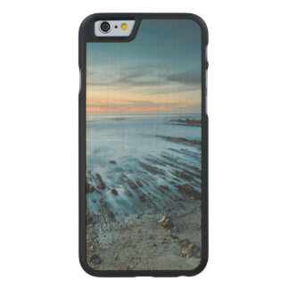 Blue seascape at sunset, California Carved® Maple iPhone 6 Slim Case