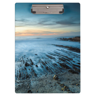 Blue seascape at sunset, California Clipboard